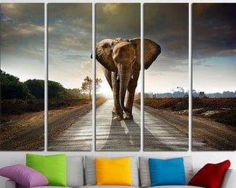 Elephant Wall art Elephant art Elephant canvas Elephant poster Elephant print Elephant photo Elephant wall decor Large Wall Art Large Canvas