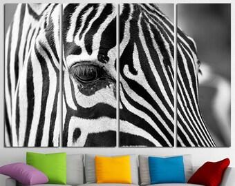 Amazing Large Zebra Canvas Print Wall Art Multi Panel Zebra Wall Art Zebra Canvas  Zebra Extra Large