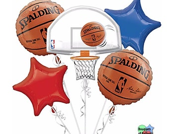 NBA Basketball - Spalding – Bouquet Of Mylar Balloons