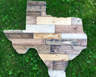 """Large (ANY STATE) Rustic Wood State Sign 33"""""""