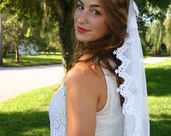 Lace Chiffon Wedding Veil