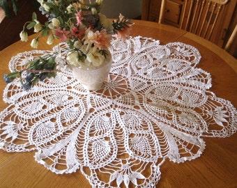 "Hand Crochet Doily - ""Pineapple Chiffon"""