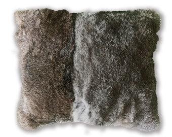 Rabbit fur. luxurious rabbit fur pillow. rabbit fur fabric pillow. Throw pillows. Accent pillow. Rabbit fur pillow cover. fur cushion cover.