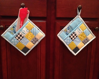 Quilted Pot Holders, Set of 2, Hot Pads, Great Gifts!