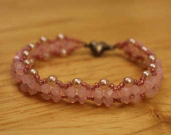 Forget Me Not in Pink: Woven Bracelet