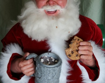 COCOA AND COOKIES -  original Santa art doll sculpted & designed by Sue Menz