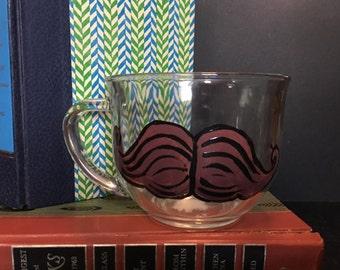 Clear Mustache Mug