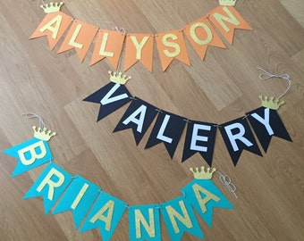 Custom Princess Name Banner