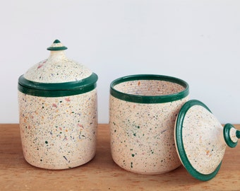 900ml Speckled Jar with Lid