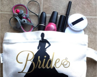 Personalized Cosmetic/Make-up bag, Bridal Party, Bridesmaids