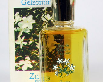 Vintage ZUMA Jasmin Cologne Perfume Splash Acqua di Colonia Gelsomino Flowers of Sicily Italy Fragrance New/Old Stock