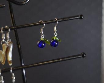 Berry Blue Earrings
