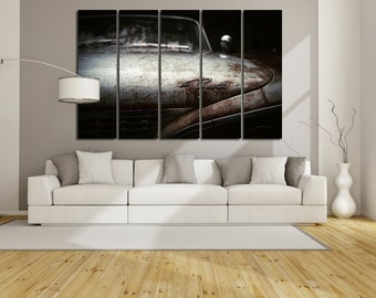Old Plymouth  Wall Art Multi Panels Set Retro Car Wall Art Cars Canvas Art Old Car Wall Art Car Print Poster Plymouth Wall Canvas MultiPanel