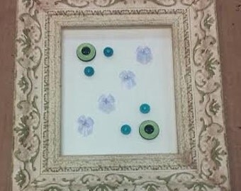 Framed Buttons and Bows Wall Art