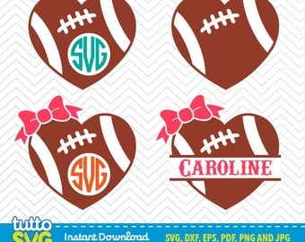American Football Hearts SVG files, Silhouette Studio, Cricut, Cameo, Embroidery, Screen Printing TT-20