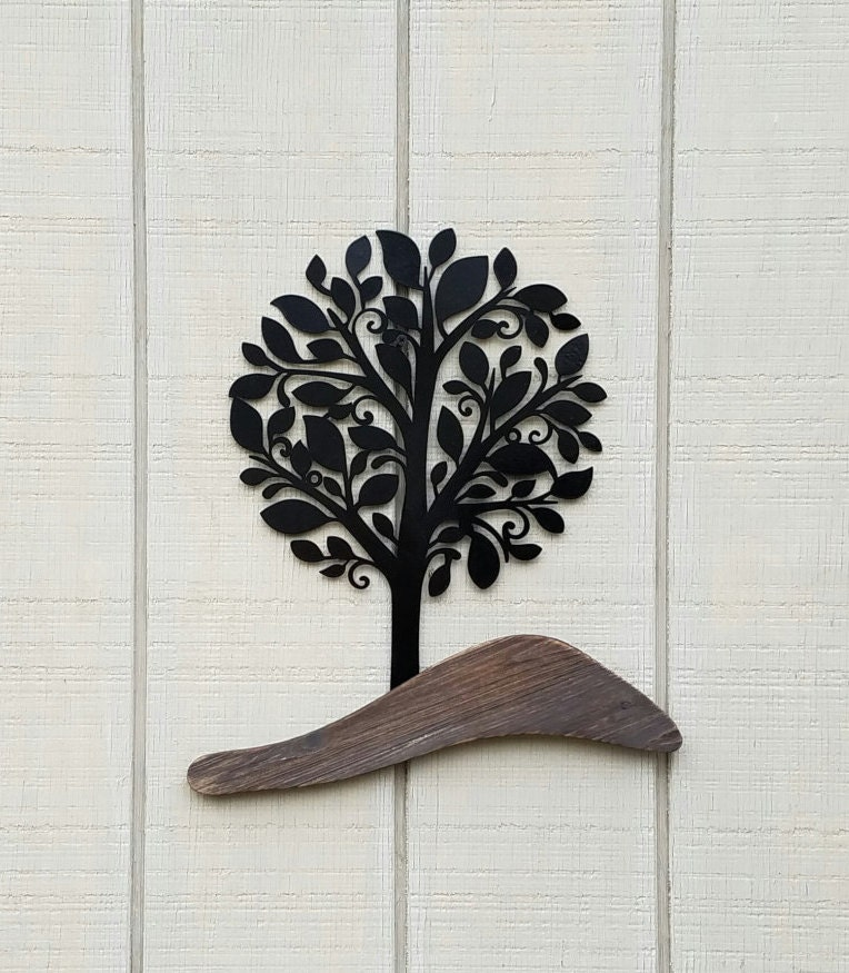 tree of life wall art metal and wood tree decor by. Black Bedroom Furniture Sets. Home Design Ideas