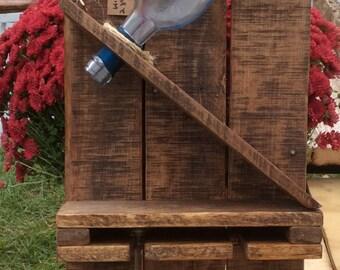 Rustic Slant Bottle Wine Rack