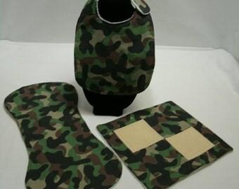 Camouflage - Bib, Burp Cloth, Wash Cloth - Three Piece Set