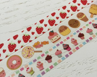 Decorative tape masking tape Sweet treats washi tape