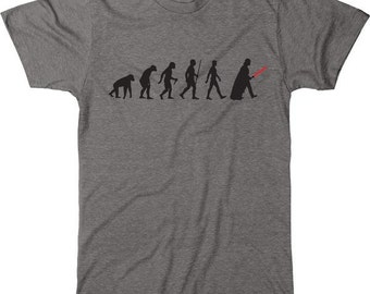 Evolution of Darth Vader Men's Tri-blend T-Shirt