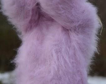 ORDER handmade mohair sweater handknit mohair pullover knitted mohair jumper hand knitted mohair tneck PINK mohair fuzzy mohair S-L Dukyana