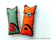 Fabric Cat Magnets (2)