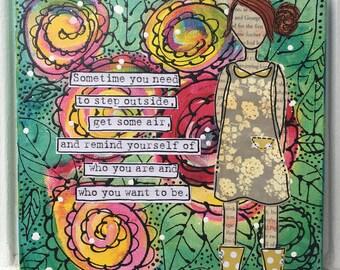 Garden Girl Canvas