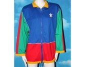 Triumph International Bright Multicolred Cotton Jacket Large Vintage 1990s