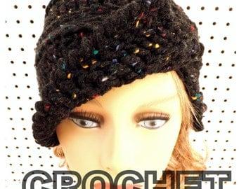 Crochet Pattern Hat, Womens Hat, Womens Crochet Hat Pattern, Clairisse Crochet Beanie Pattern, Beanie Hat Pattern Crochet