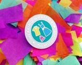 Wearing Whatever The Hell I Want Enamel Lapel Pin Badge - Feminist Badge