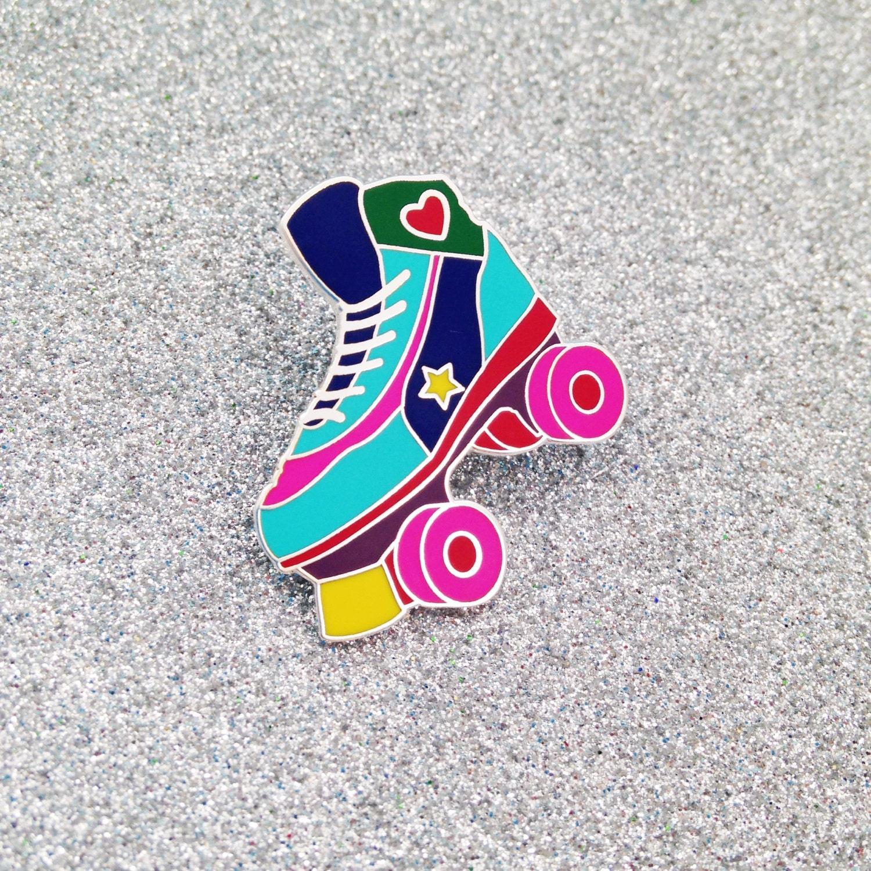 Roller skates under 20 dollars - Roller Skate Enamel Lapel Pin Badge Rollerskating Roller Derby