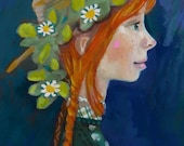 Anne with an E ... Anne of Green Gables by L.M. Montgomery portrait series ... storybook series ... limited edition print