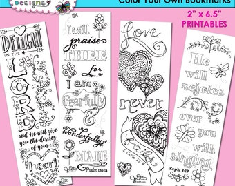 4 Bible Journaling Templates - Bible Verse Bookmark Coloring Pages - Delight in the LORD - Scripture Printables - Illustrated Faith