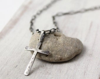 Rustic Handmade Cross Necklace