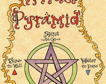 Wicca Grimoire Art The Witch's Pyramid 2003 Digital Download ~ Make Your Book of Shadows Beautiful/Unique/Inspired by Carole Anzolletti