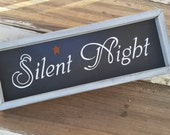 Silent Night wood Christmas sign