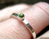 Peridot Silver Stack Ring
