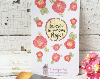 Believe In Your Own Magic Art Stickers