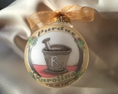 PHARMACIST Personalized Ornament, Personalized and Handpainted, Original Design