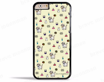Cute iPhone 7 Case Geeky Science Cat Nerdy Cat Cute Gift Ideas Samsung Galaxy S7 Case iPhone 6s Case