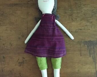 OOAK Modern Rag Doll, cloth doll, one of a kind doll