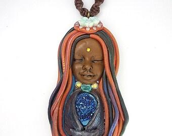 Owl Necklace - Owl Pendant - Animal Totem - Shaman Necklace - Spirit Animal - Animal Medicine - Owl Totem - Owl Jewelry - Agate Necklace