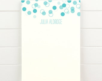 CONFETTI Personalized Notepad - Polka Dot Letterhead