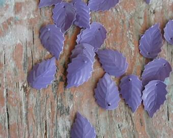 Vintage Leaf Sequins Purple color 200pc