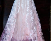 Lace wedding dress ivory tulle romantic boho outdoor fairytale smallby vintage opulence on Etsy