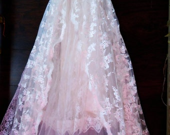 Lace wedding dress ivory tulle romantic boho outdoor fairytale smallby vintage opulence on Etsy