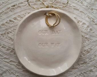 Wedding Ring Dish Trinket Dish Wedding Favor Jewelry Dish Bridesmade Home Decor