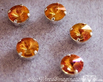 Summer Blush 1122 Swarovski Crystal, 39ss 8mm With Prong Setting, Crystal Sew On, Summer Orange Jewelry Supplies, Jewelry Making