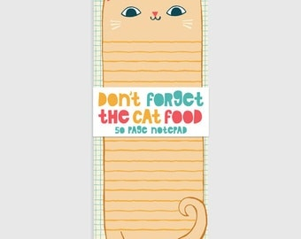 Cat - Long Notepad