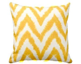 Yellow Pillow Cover, Beach Decor, Yellow Pillows, Decorative Throw Pillows, Yellow Chevron Pillow, Yellow Nautical Starfish, Yellow Cushion